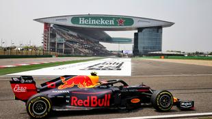 Un vehículo de Red Bull durante el GP de China de 2019.