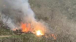 En llamas acabó el helicóptero de Bryant.