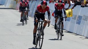 Egan cruza la meta en la primera etapa del Tour Colombia 2.1