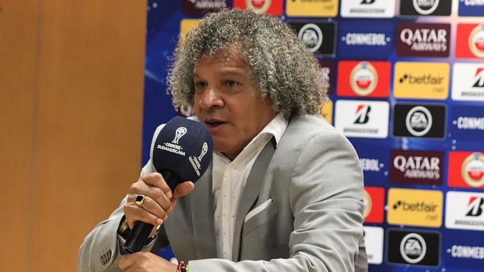 Alberto Gamero en una rueda de prensa.
