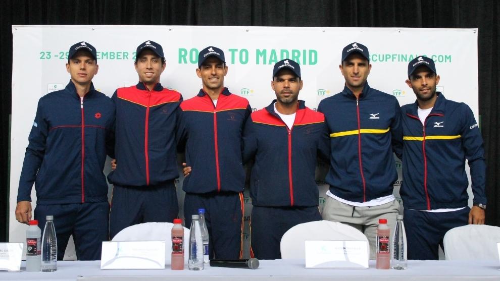 Los tenistas que integran el Equipo Colombia Colsanitas.