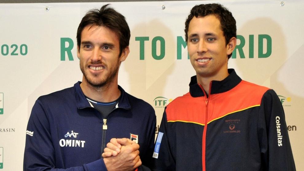 Leonardo Mayer y Daniel Galan, tenistas profesionales, en directo.