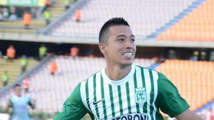 Uribe durante un partido con el Nacional.