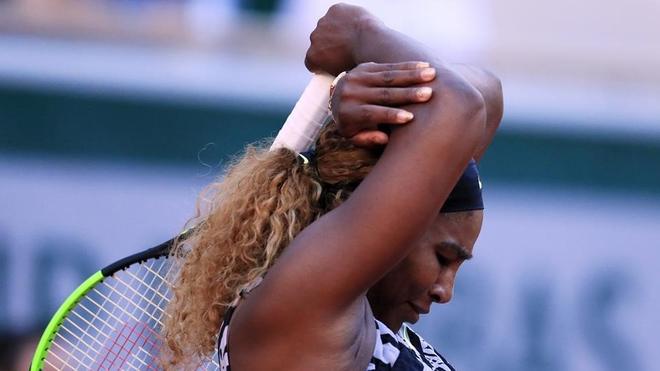 Serena en un juego de Grand Slam.