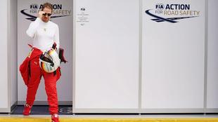 Vettel, piloto de Ferrari.
