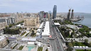 Vista panorámica del GP de Bakú.