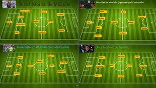 Mbappé, Ronaldo, Pique, Mou...eligen sus onces historicos: ¿cuál es...
