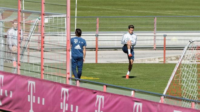 Práctica del Bayern de este lunes 6 de marzo.