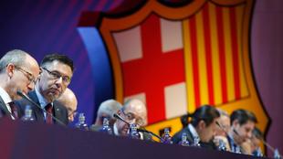 Una reunión de directivos del Barcelona.