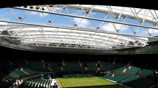 Vista general de la cancha 1 de Wimbledon.