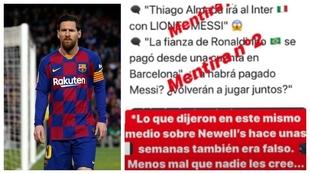 Messi volvió a enfrentarse con una cuenta que publicó una noticia...