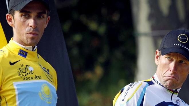 Contador desveló las peleas que tuvo con Amstrong en el Tour de 2009.