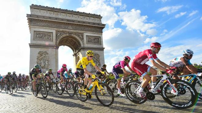Una etapa del Tour de Francia.