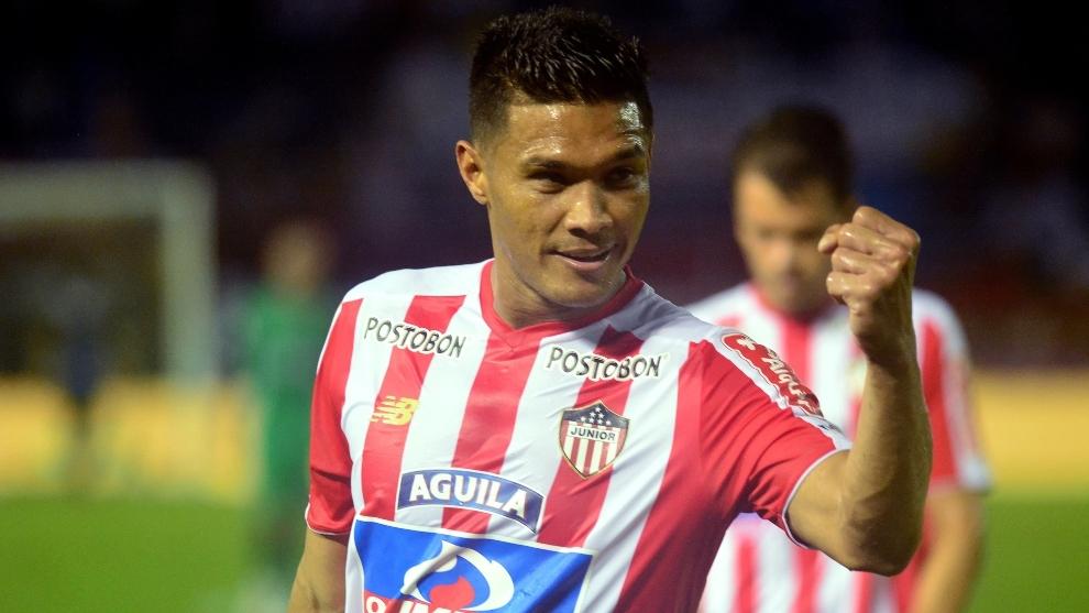 Teófilo Gutiérrez, en un partido con Junior de Barranquilla.