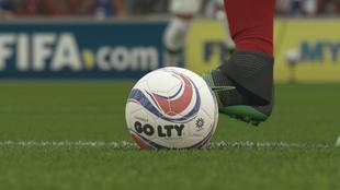 Una imagen de un partido de la liga colombiana en FIFA 20.