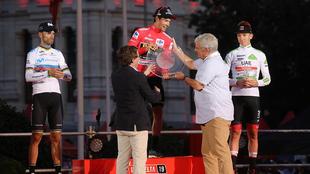Podio de la edición 2019 de La Vuelta.
