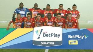 Deportivo Pereira, antes de un partido.