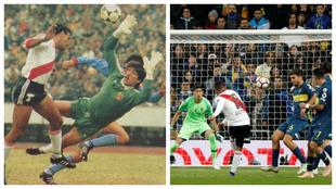 Alzamendi marca en la final de 1986 ante la salida de Steaua de...