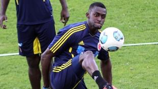 Jackson Matínez, en un entrenamiento con la Selección Colombia.
