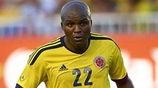 Aquivaldo Mosquera en un partido con la Selección Colombia.