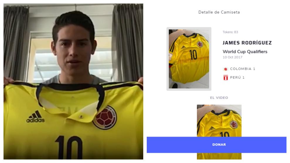 Selección Colombia: James dona la camiseta con la que hizo el gol de la clasificación a Rusia 1