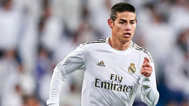 James en un partido con el Madrid.