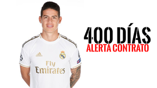 El contrato de James y Real MAdrid se vence en 400 días.