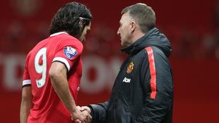 Falcao al ser sustituido en un partido de la Sub-21 del Manchester...
