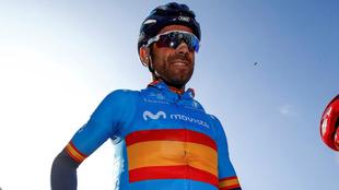 Alejandro Valverde, líder del Movistar Team.