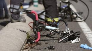 Bicicleta después de un accidente.