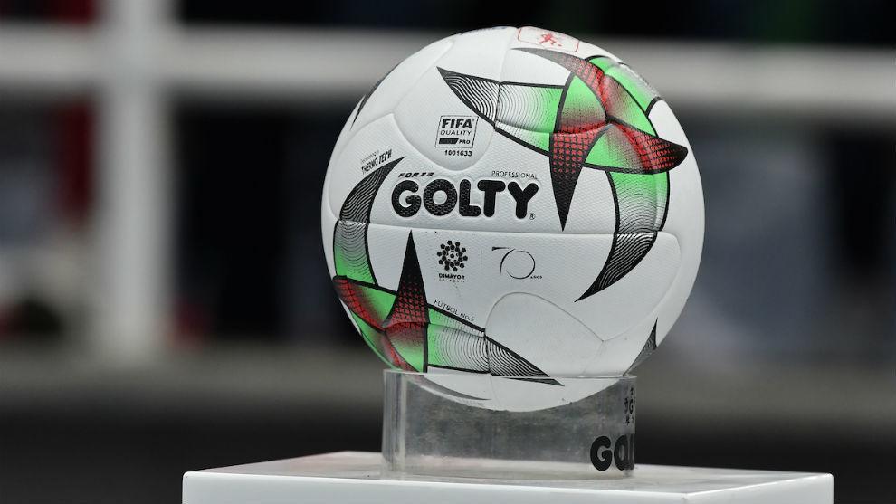 El balón del fútbol profesional colombiano.