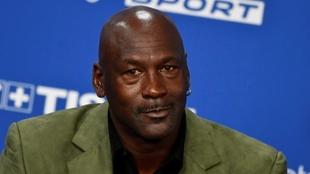 El exjugador de baloncesto Michael Jordan, en una conferencia de...
