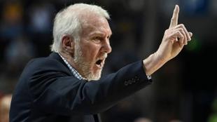 Gregg Popovich, durante un partido de la NBA.