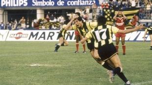 La celebración inolvidable de Diego Aguirre.