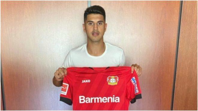 Exequiel Palacios, el día que fichó por el Bayer Leverkusen