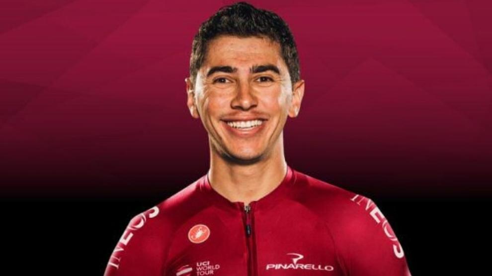 el ciclista colombiano Sebastián Henao con su indumentaria del Team...