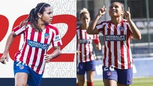 Leicy Santos, jugadora del Atlético de Madrid