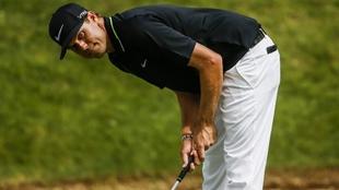 El golfista Nick Watney durante una competencia.