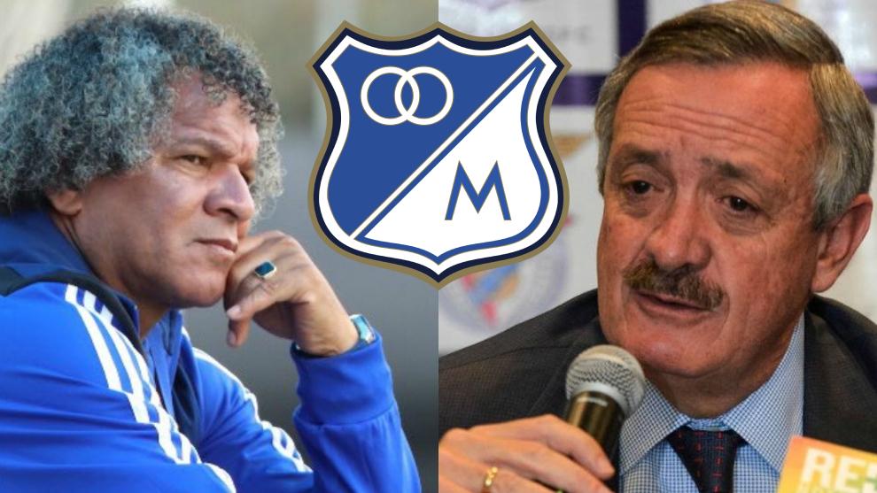 Alberto Gamero y Enrique Camacho, entrenador y presidente de...