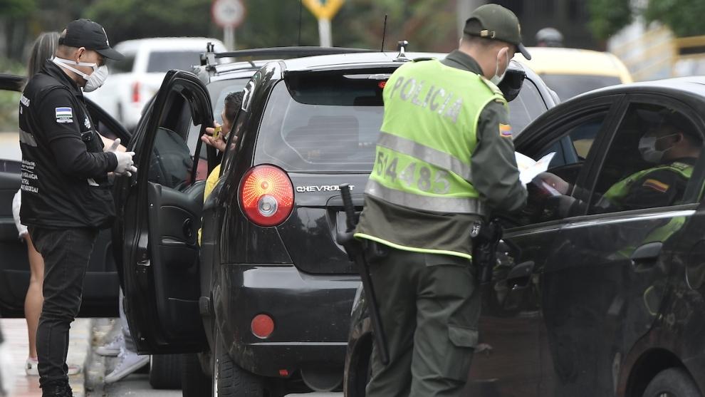 La Policía mantiene los controles en las carreteras de Colombia