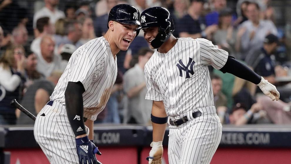 Un partido de los Yankkes de Nueva York en la MLB.