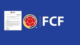 La carta de cancelación de dos torneos y el logo de la Federación...