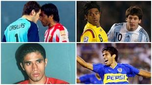 Fabián Vargas, en varias etapas de su vida.