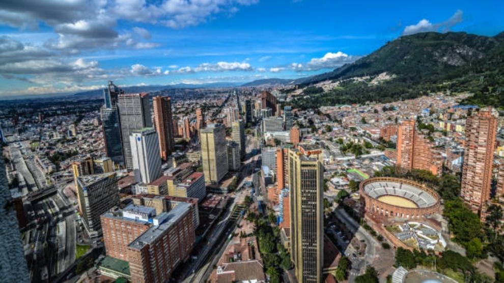 Cuarentena estricta: Panorámica de la ciudad de Bogotá