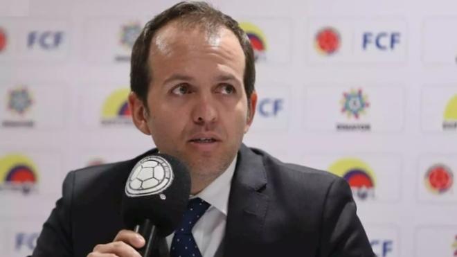 Ernesto Lucena, ministro del deporte de Colombia, durante una...