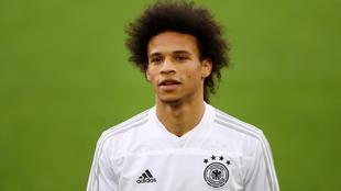 Leroy Sané, durante una concentración con la selección de Alemania