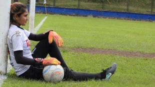 Johanis Menco, durante un entrenamiento con Real San Andrés.