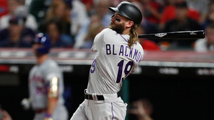 Charlie Blackmon, jardinero de los Rockies de Colorado.