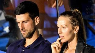 Djokovic, junto a su mujer Jelena en un momento del Adria Tour