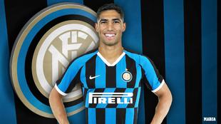 Achraf Hakimi, el nuevo lateral del Inter de Conte.